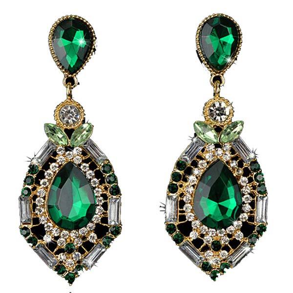 79dbf37ea Green Austrian Crystal Earrings for Women - charmloop